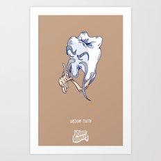 Punny Doodle-Wisdom Tooth Art Print