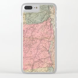 Vintage Map of The Adirondack Mountains (1883) Clear iPhone Case