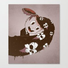 Head Spill Canvas Print