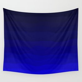 Deep Rich Sapphire Ombre Wall Tapestry