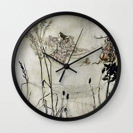 """Fairies Dancing on Spiderweb"" by Arthur Rackham Wall Clock"