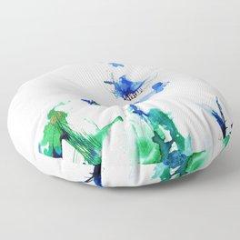 Communicating worlds Floor Pillow