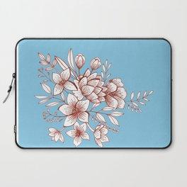 Line Flower Bouquet Laptop Sleeve