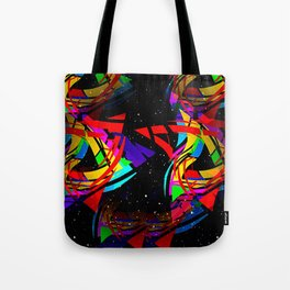 Triangles, colored, abstract. Tote Bag