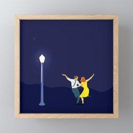 La La Land - Dancing Couple in Lamplight Framed Mini Art Print