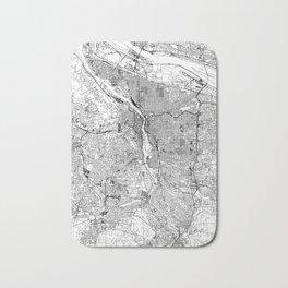 Portland White Map Bath Mat