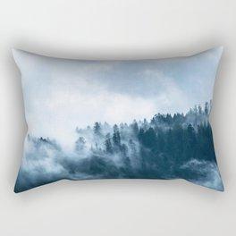 The Fog In The Trees Rectangular Pillow