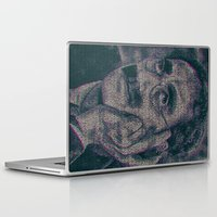 marx Laptop & iPad Skins featuring Groucho Marx - Duck Soup Screenplay Print by Robotic Ewe