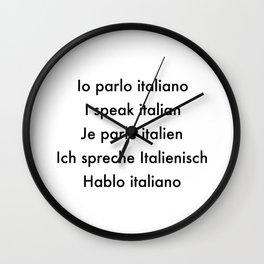 Io parlo Italiano Wall Clock