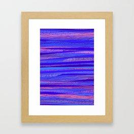 Blue - pink Abstract pattern Framed Art Print