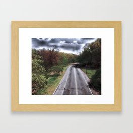 Branch Brook Park Drive New Color Framed Art Print
