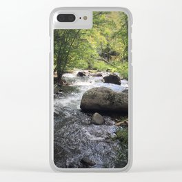 Down The Stream Clear iPhone Case