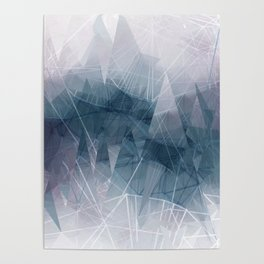 Ameythist Crystal Inspired Modern Abstract Poster
