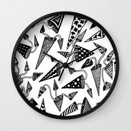 Party Hats Wall Clock