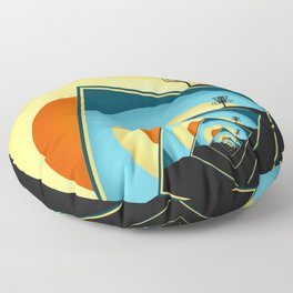 Spinning Disc Golf Baskets 1 Floor Pillow