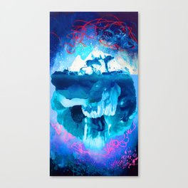 Blue Iceberg with Sea and Sky Canvas Print