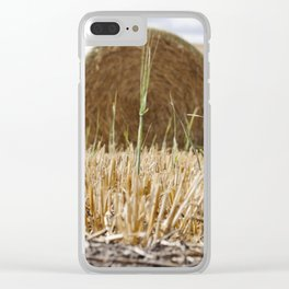 Wheat Bale Photography Print Clear iPhone Case