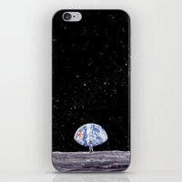 neil gaiman iPhone & iPod Skins featuring Neil Armstrong by Enrico Barin Guarise