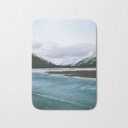 Frozen Blues Bath Mat