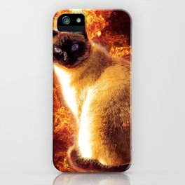 Flame Cat iPhone Case