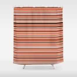 Old Skool Stripes - Sunset - Horizontal Shower Curtain