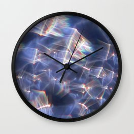 Glassy Refraction 2 Wall Clock