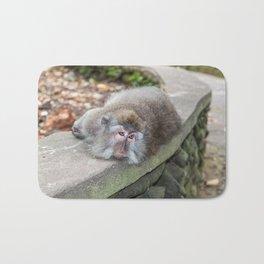 Crab-eating Macaque V (Balinese Monkey) Bath Mat