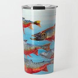 Arctic char - Alcohol Ink Travel Mug