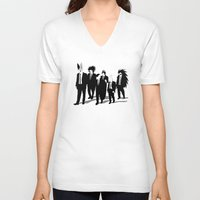 reservoir dogs V-neck T-shirts featuring Reservoir Enemies by ddjvigo