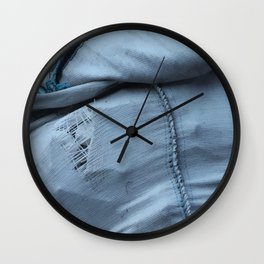 Blue Parcel 1 Wall Clock