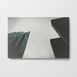 a view from a down below Metal Print