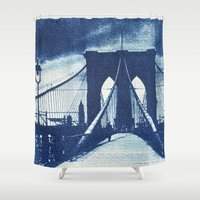 old school Shower Curtains featuring Old School by HardtThrob