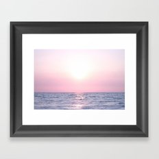 Ocean waves #pink Framed Art Print