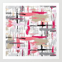 Pink Brushstroke Art Print