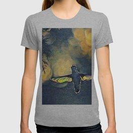 Golden Blue Hummingbird by CheyAnne Sexton T-shirt