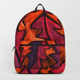 Autumn fire leaves Backpack