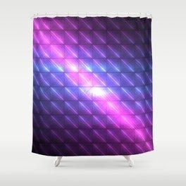 Electric Tiles of Celestial Rains Shower Curtain