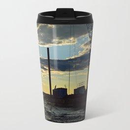 Sunset Over the Barge Travel Mug