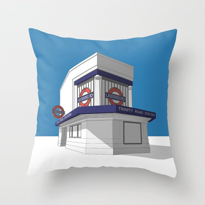 Trinity Road (Tooting Bec) Throw Pillow