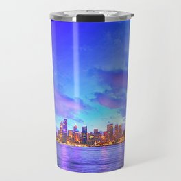 Marvellous Sydney Harbour Bridge Australia At Splendid Sunset Cityscape Night Ultra High Resolution Travel Mug