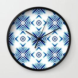Shibori Blue Watercolour No.15 Wall Clock