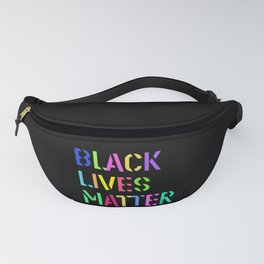 Black Lives Matter Colorful Stencil 1 Fanny Pack