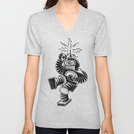 ELECTRIC! (Air-Guitaring Robot) Unisex V-Neck