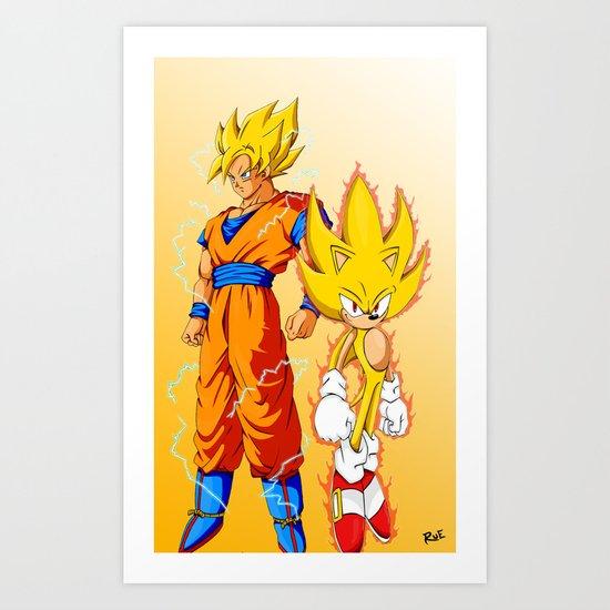 Super Sonic Warriors Z Art Print