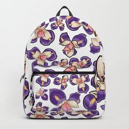 Cute Purple Floral Pattern Backpack