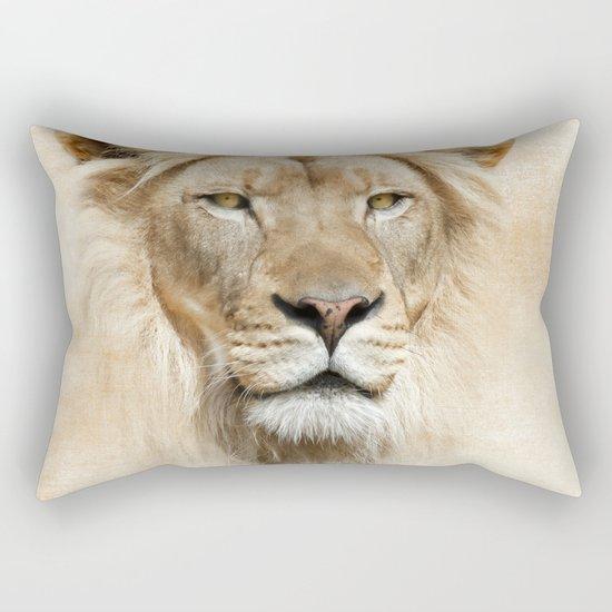 Lion Portrait Rectangular Pillow