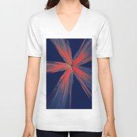 the strokes V-neck T-shirts featuring Brush strokes by Gaspar Avila