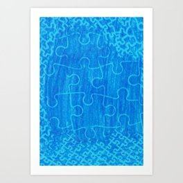 Life is a puzzle 7 Art Print