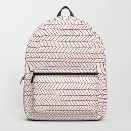simple fine line pattern in red Backpack