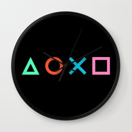 Play Pattern 3 Wall Clock